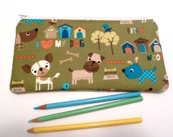 Doggie Zippered Pouch Pencil Pouch Organizer Gifts For Children