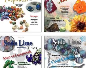 Bundle of Soda Lime Times Lampworking Magazines - Sept 2014 - Dec 2014