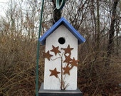 Primitive Birdhouse Rusty Metal Star Spray