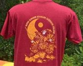 vintage 90s t-shirt MARTIAL ARTS camp karate kung fu cazenovia college tee Medium Large