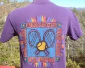 vintage 90s tee US OPEN tennis tournament ny t-shirt Medium Small flushing meadows