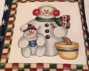 Christmas Snowmen Pot Holder