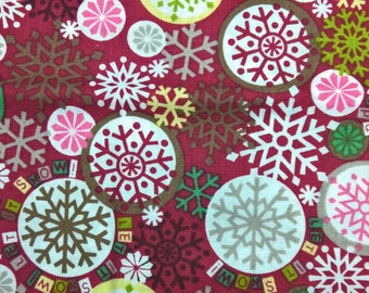 Winter Snowflakes fat quarter cotton