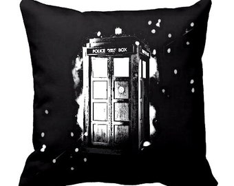 Doctor Who Tardis throw pillow cover, Firefly pillow cover, Star Trek Pillow cover, Enterprise pillow, Cotton, Sci-Fi, Geek pillows