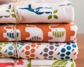 Organic Cotton Baby Blankets and Accessories in Safari Soirée Fabric Prints