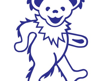 Grateful Dead Sticker Dancing Bear Vinyl Decal for Wall or Vehicles Graphics
