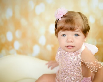Baby Crown, Hairclip, Headband, Tiara, Pink, Peach, Ivory, Blue, Birthday, Smash Session, Photo Prop, Princess Birthday, Royal, Bling, Crown