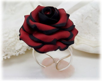 Tipped Rose Ring - More Colors, Tipped Rose Jewelry