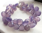 1/2 strand of purple chalcedony  WHOLESALE PRICES