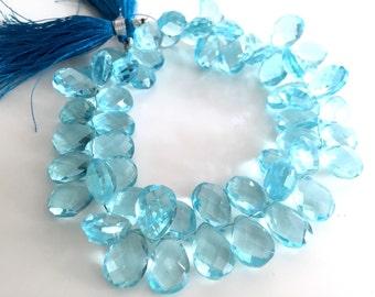 1/2 strand of sky blue color hydro quartz pears WHOLESALE 18.00