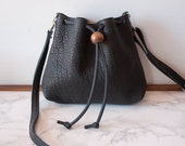 SALE // Mini Bucket Bag / Small Bucket Bag / Leather Bucket Bag / Leather Crossbody / Black Leather Purse / Minimalist Bag / Brown Leather