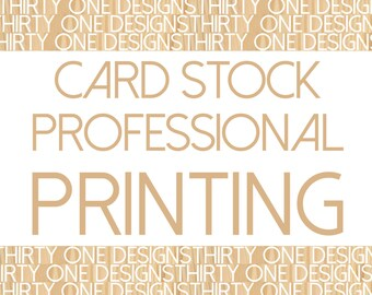 Glossy Card Stock Printing with Envelopes - Quantity 25 (and up)