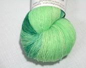 hand dyed yarn - 80/20 SW Merino/Silk Lace - Flash Bang colorway (dyelot 42516)
