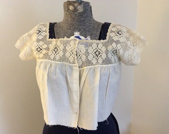 Vintage Crocheted Camisole - Vintage Dress Bodice - Handmade Crochet