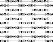 Tribal Fabric, Modern fabric by the Yard, Arrow fabric by Riley Blake- Four Corners Stripe Black- Fabric by the Yard, You Choose the Cut