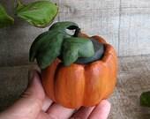 Autumn Wedding or Engagement Fine Art Ring Box - Ambrosia Maple and Holly Wood Pumpkin - Cucurbita sp by Tanja Sova