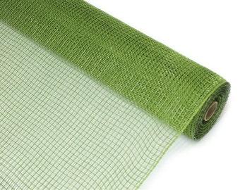 "Moss Fabric Mesh 21"" - New Moss Deco Mesh Fabric -   XB979-08"