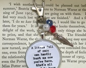 A little fall of rain Les Miserables inspired key ring keychain bag charm