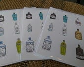 Giniatures (3 x greetings cards)