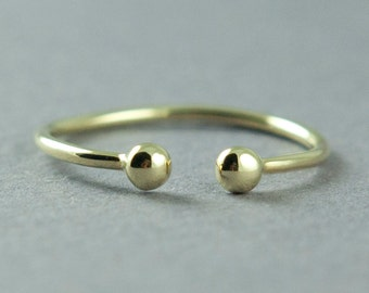 Solid Gold Ring, Rose Gold, Yellow Gold, Dainty Gold Ring, 14K Gold, Simple Gold Ring Made to Order, Free Courier Shipping