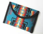 Kindle Paperwhite Sleeve Cover Case Blanket Weight Wool Pouch Padded Chief JosephTurquoise Tribal Inspired