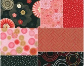 "Robert Kaufman SATSUKI BLOSSOM Metallic Precut 5"" Charm Pack Fabric Quilting Cotton Squares CHS-464-42"