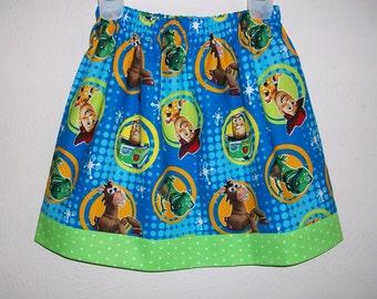 Girls Skirt Toy Story Skirt Blue and Lime toddler skirt Buzz Lightyear Woody Skirt Summer Skirt Twirl Skirt Toy Story Party Baby Skirt