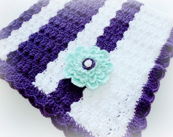 Handcrafted/Hand Crocheted Baby Girl Blanket