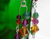 earrings Sterling Crystal Chandelier