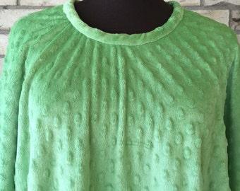 Plus Size Bubble Fleece Tunic/Caftan