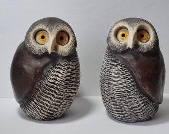 Pair Studio Pottery Owls