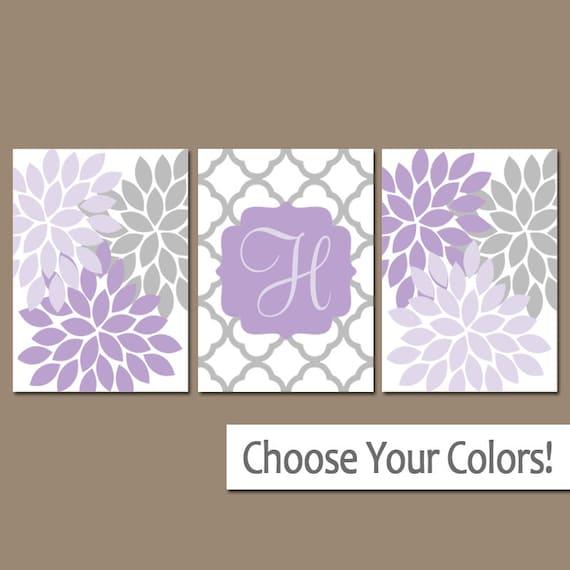 purple gray nursery wall art canvas or prints lilac gray. Black Bedroom Furniture Sets. Home Design Ideas