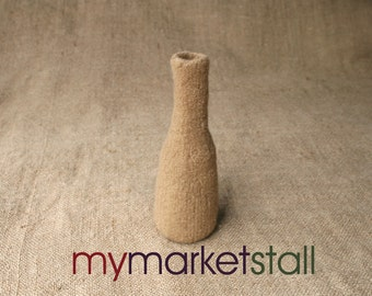 Felted Vase in Camel - Ready to Ship