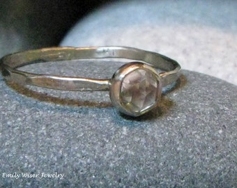 Alternative Engagement Ring. 14k white gold. Pick your gemstone.