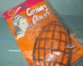 Vintage MOD 60s Plastic Crown Pouf Bouffant Hair Style Accessory