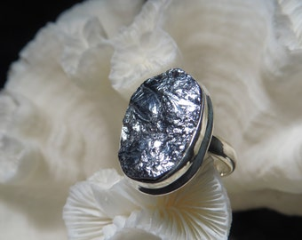 Beautiful Galena Mirror Ring Size 6.25