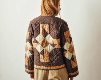 Vintage Brown Quilted Jacket