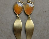 Sasha Earrings in Carnelian and Gold