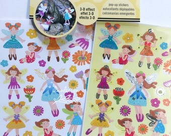 Fairy Pop Up Stickers (2 sheets) Fairies Birthday Party (ST5123)