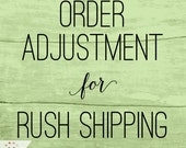 Add-on Listing to increase vinyl banner shipping from Standard to Rush