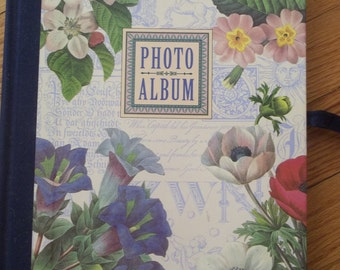 Victorian Floral Photo Album