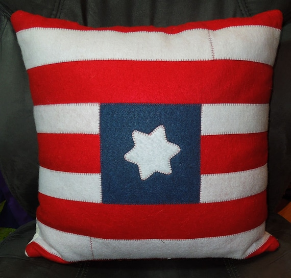 Blue Red Throw Pillow : Red White and Blue Throw Pillow