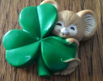 Vintage 1989 Hallmark Shamrock St. Patrick's Day Lapel Pin