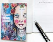 A5 Lined Notebook with I Am Love Printed Cover