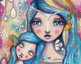 Mother And Daughter - Art Print