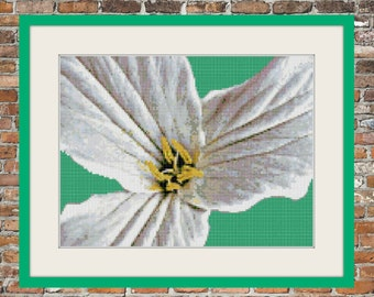 White Trillium - a Counted Cross Stitch Pattern