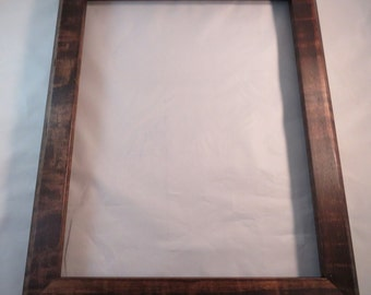 11x14 Curly Maple with Coffee Dye Picture Frame