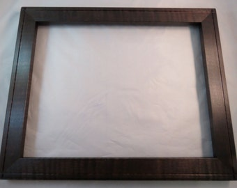 11x14  Curly Rock Maple with Dark Walnut Dye Picture Frame - Made in Maine - Real Wood Frame