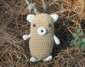 Plush Toy Groundhog - Amigurumi Animal Groundhog - Hamster-Woodchuck-Guinea Pig-Groundhog Toy - Soft Toy Groundhog - Ready-to-Ship