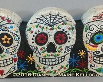 E16008 Dia De Los Muertos Trio Pattern Packet from Oil Creek Originals